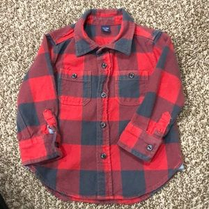 Baby Gap Plaid Button-up